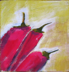 Acrylic Originals – Red Chiles
