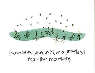 Snowflakes Pinecones