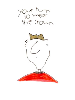 It's your turn to wear the crown
