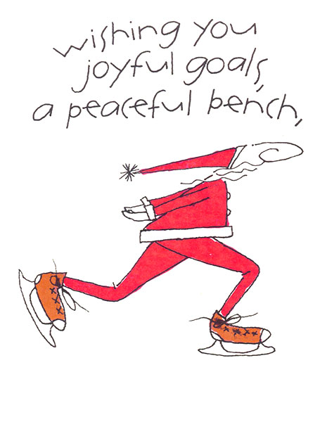 Wishing you joyful goals, a peaceful bench