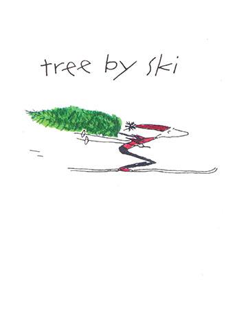Tree by ski