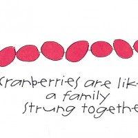 Cranberries are like a family strung together