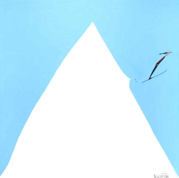 bluebird day acrylic original