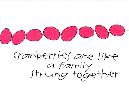 Cranberries are Like Family