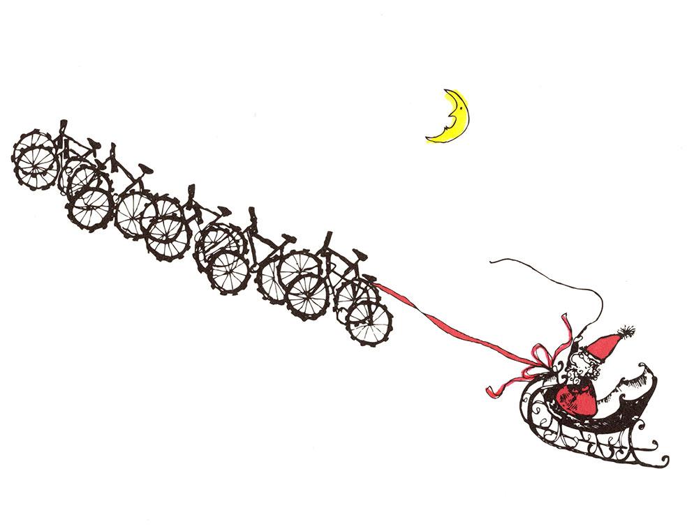 Santa/Bikes