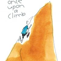 Once upon a climb - sports greeting card